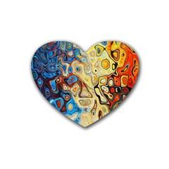 Background Structure Absstrakt Color Texture Rubber Coaster (Heart)