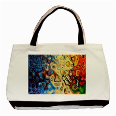 Background Structure Absstrakt Color Texture Basic Tote Bag (Two Sides)