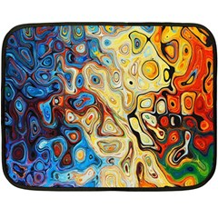 Background Structure Absstrakt Color Texture Double Sided Fleece Blanket (Mini)