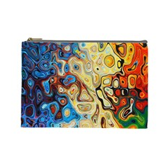 Background Structure Absstrakt Color Texture Cosmetic Bag (large)