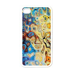 Background Structure Absstrakt Color Texture Apple Iphone 4 Case (white)