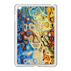 Background Structure Absstrakt Color Texture Apple Ipad Mini Case (white)