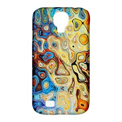 Background Structure Absstrakt Color Texture Samsung Galaxy S4 Classic Hardshell Case (PC+Silicone)