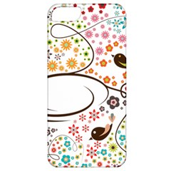 Flower Floral Rose Sunflower Bird Back Color Orange Purple Yellow Red Apple Iphone 5 Classic Hardshell Case