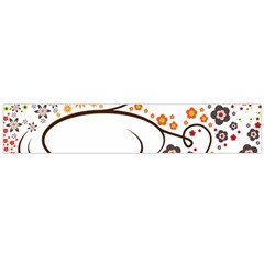 Flower Floral Rose Sunflower Bird Back Color Orange Purple Yellow Red Flano Scarf (Large)