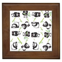 Panda Tile Cute Pattern Framed Tiles