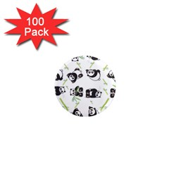Panda Tile Cute Pattern 1  Mini Magnets (100 pack)