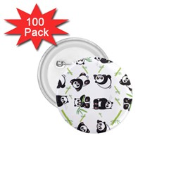 Panda Tile Cute Pattern 1 75  Buttons (100 Pack)