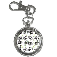Panda Tile Cute Pattern Key Chain Watches