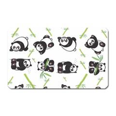 Panda Tile Cute Pattern Magnet (rectangular)
