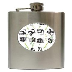 Panda Tile Cute Pattern Hip Flask (6 Oz)
