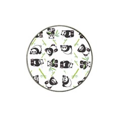 Panda Tile Cute Pattern Hat Clip Ball Marker (4 Pack)