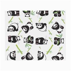 Panda Tile Cute Pattern Small Glasses Cloth