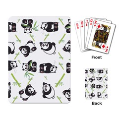 Panda Tile Cute Pattern Playing Card