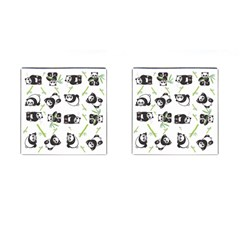 Panda Tile Cute Pattern Cufflinks (square)