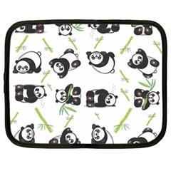Panda Tile Cute Pattern Netbook Case (large)