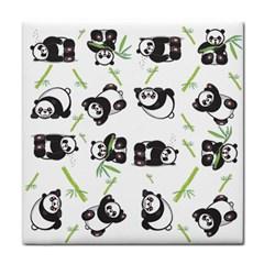 Panda Tile Cute Pattern Face Towel