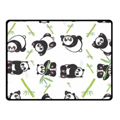 Panda Tile Cute Pattern Fleece Blanket (small)