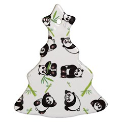 Panda Tile Cute Pattern Christmas Tree Ornament (two Sides)