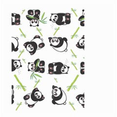 Panda Tile Cute Pattern Small Garden Flag (two Sides)