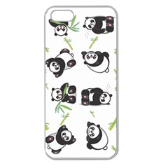 Panda Tile Cute Pattern Apple Seamless Iphone 5 Case (clear)