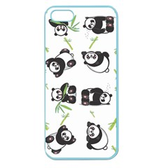 Panda Tile Cute Pattern Apple Seamless Iphone 5 Case (color)