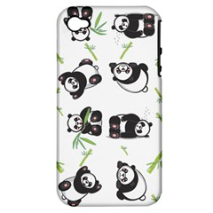 Panda Tile Cute Pattern Apple Iphone 4/4s Hardshell Case (pc+silicone)