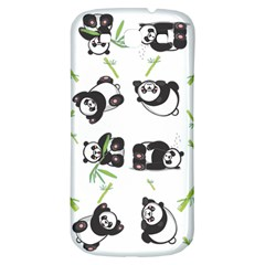 Panda Tile Cute Pattern Samsung Galaxy S3 S Iii Classic Hardshell Back Case