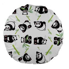 Panda Tile Cute Pattern Large 18  Premium Round Cushions