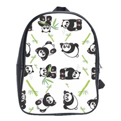 Panda Tile Cute Pattern School Bags (xl)