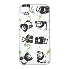 Panda Tile Cute Pattern Apple Iphone 4/4s Hardshell Case With Stand