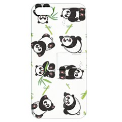 Panda Tile Cute Pattern Apple Iphone 5 Hardshell Case With Stand