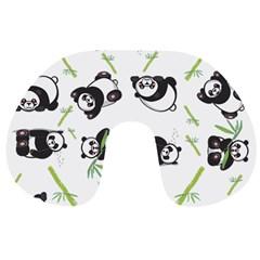 Panda Tile Cute Pattern Travel Neck Pillows