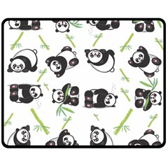 Panda Tile Cute Pattern Double Sided Fleece Blanket (medium)
