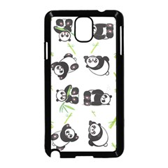 Panda Tile Cute Pattern Samsung Galaxy Note 3 Neo Hardshell Case (black)