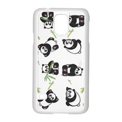 Panda Tile Cute Pattern Samsung Galaxy S5 Case (white)