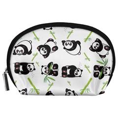 Panda Tile Cute Pattern Accessory Pouches (large)