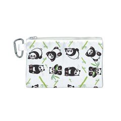 Panda Tile Cute Pattern Canvas Cosmetic Bag (s)