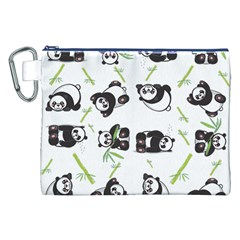 Panda Tile Cute Pattern Canvas Cosmetic Bag (xxl)
