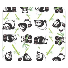 Panda Tile Cute Pattern Double Sided Flano Blanket (small)