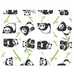 Panda Tile Cute Pattern Double Sided Flano Blanket (medium)