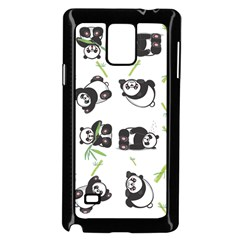 Panda Tile Cute Pattern Samsung Galaxy Note 4 Case (black)