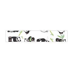 Panda Tile Cute Pattern Flano Scarf (mini)