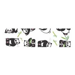 Panda Tile Cute Pattern Satin Scarf (oblong)