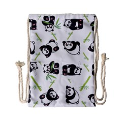 Panda Tile Cute Pattern Drawstring Bag (Small)