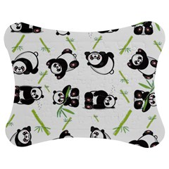 Panda Tile Cute Pattern Jigsaw Puzzle Photo Stand (bow)