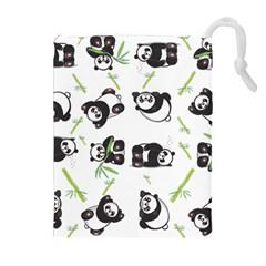 Panda Tile Cute Pattern Drawstring Pouches (extra Large)
