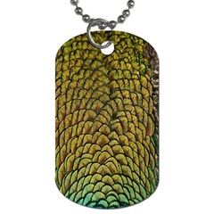 Colorful Iridescent Feather Bird Color Peacock Dog Tag (One Side)
