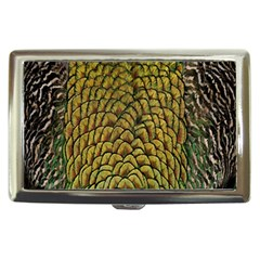 Colorful Iridescent Feather Bird Color Peacock Cigarette Money Cases