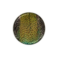 Colorful Iridescent Feather Bird Color Peacock Hat Clip Ball Marker (4 Pack)